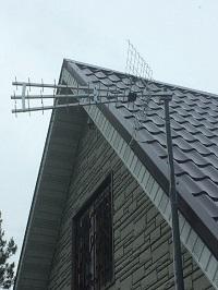 Установка комплекта эфирных антенн на даче. Лето 2016 г.