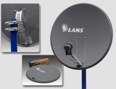 Спутниковая перфорированная антенна Lans 80 темно-серая