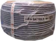 Коаксиальный кабель Cavel Sat 703ZH RG6 (бухты 100м, 250м)