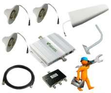 Комплект для усиления GSM синала в подвале и на складе площадью до 800м2