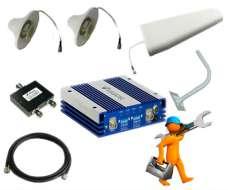 Комплект усиления GSM для дачи и дома 900/3G до 300м2