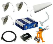 Комплект усиления сотовой связи и интернета для подвала и склада GSM900/2000 до 800м2