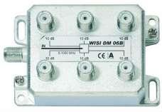Делитель ТВ сигнала WISI DM 06B на 6 направлений