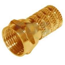 Разъем  резьба золотой для кабеля RG6