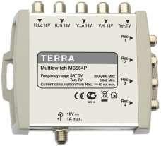 Мультисвитч Terra MS554P 5x4 + блок питания