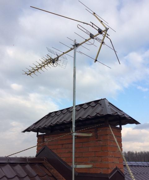 Ремонт эфирной антенны в Подмосковье