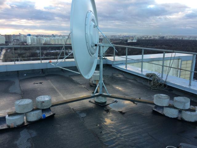 установка антенны скай ТВ