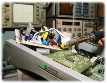 ремонт спутникового ресивера