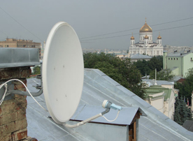 Передающая антенна НТВ Плюс