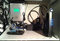 коммутация оборудования для усиления сотовой связи и интернета в шкафу
