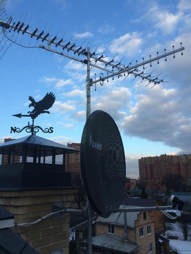 Установка 3-х антенн