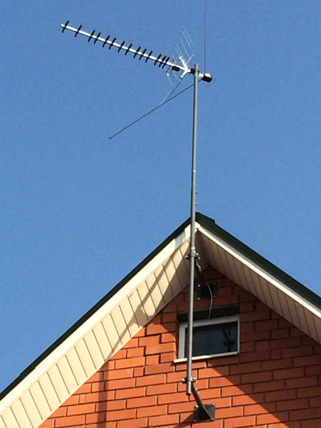 Монтаж сетчатой антенны