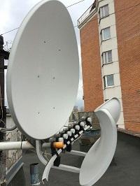 Установка спутникового телевидения. Лето 2016 г.