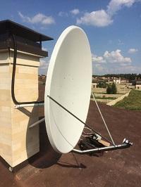 Установка спутниковой антенны в Подмосковье. Лето 2016 г.
