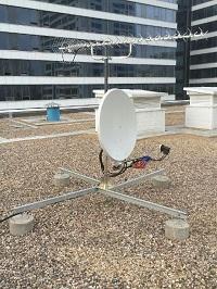 Установка спутниковой антенны в Москве. Осень 2016 г.