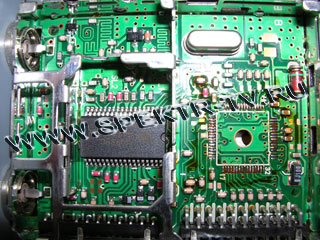Soldered out chip in satellite receiver Dreambox