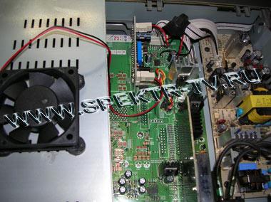 Система охлаждения спутникового ресивера Samsung DSR 9500