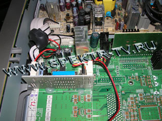 The installation of the control board in Samsung DSR 9500