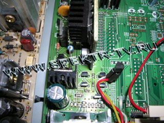 The installation of temperature sensor element in Samsung DSR 9500