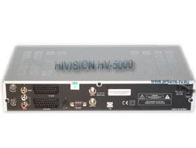 Спутниковый тюнер Hivision HV-5000, задняя панель